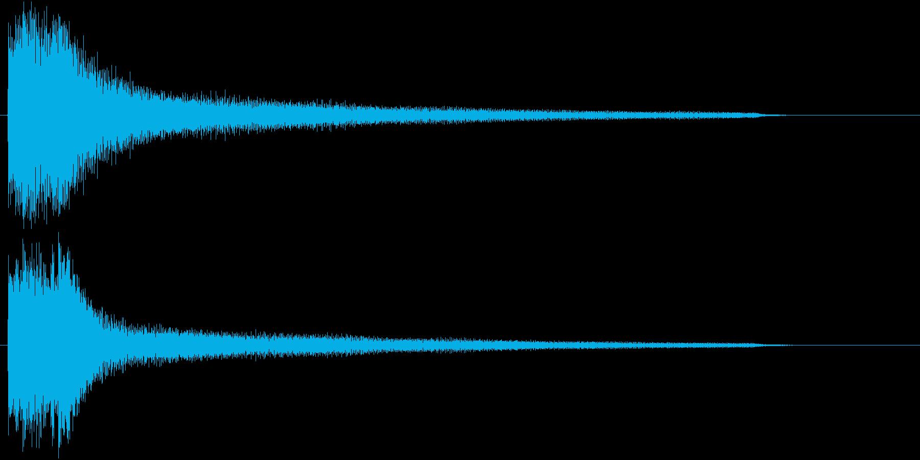 エンディング・ゲームオーバーなSE 1の再生済みの波形