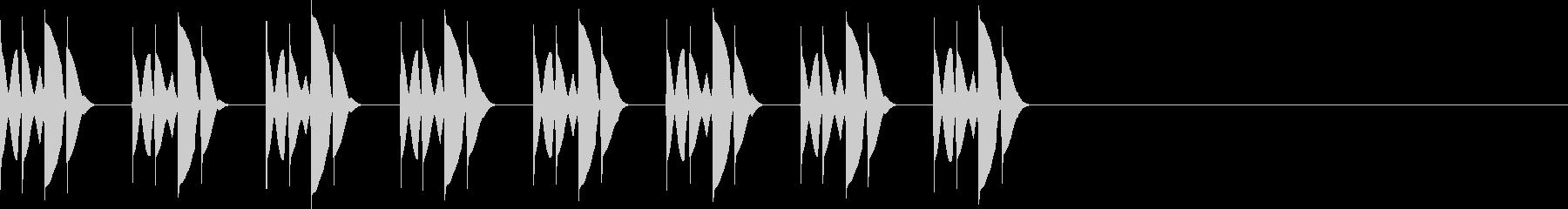 ピロリロピロリロ・・・の未再生の波形