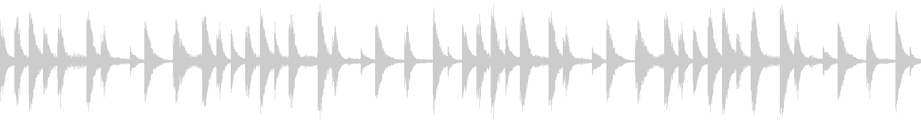 【ループC】浮遊感あるシンセが続くテクノの未再生の波形