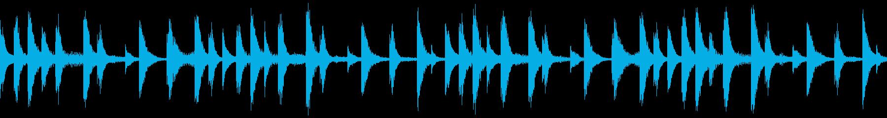 【ループC】浮遊感あるシンセが続くテクノの再生済みの波形