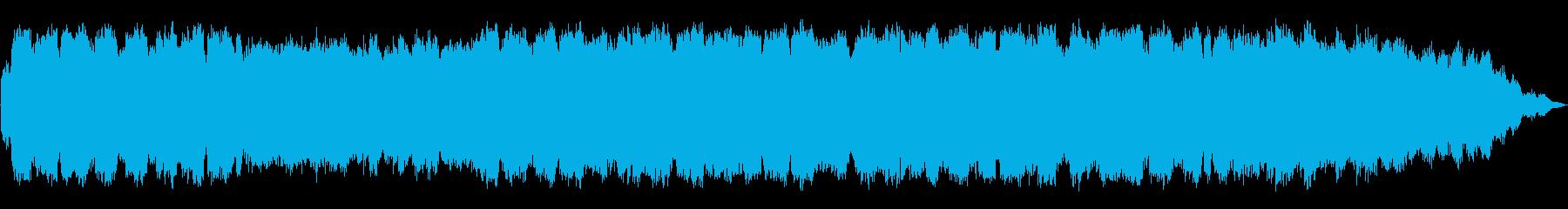 ゆったりしたリズムの笛のヒーリング音楽の再生済みの波形