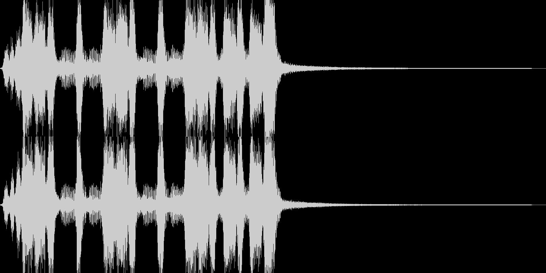 アコーディオンの賑やかなワルツジングルの未再生の波形