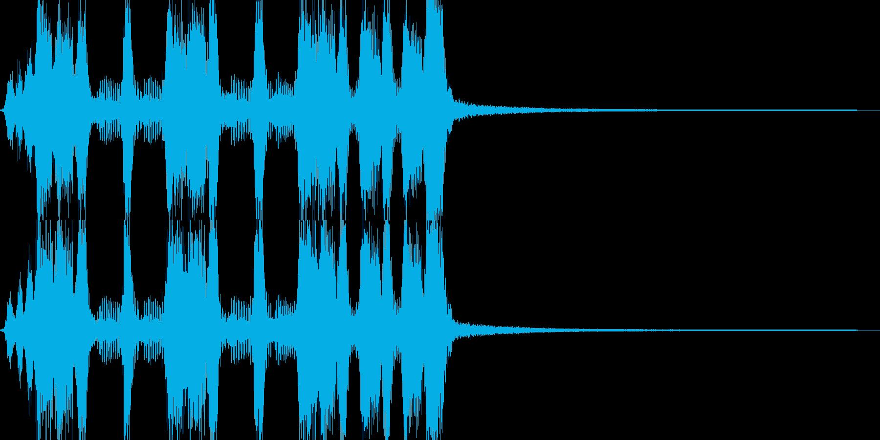 アコーディオンの賑やかなワルツジングルの再生済みの波形