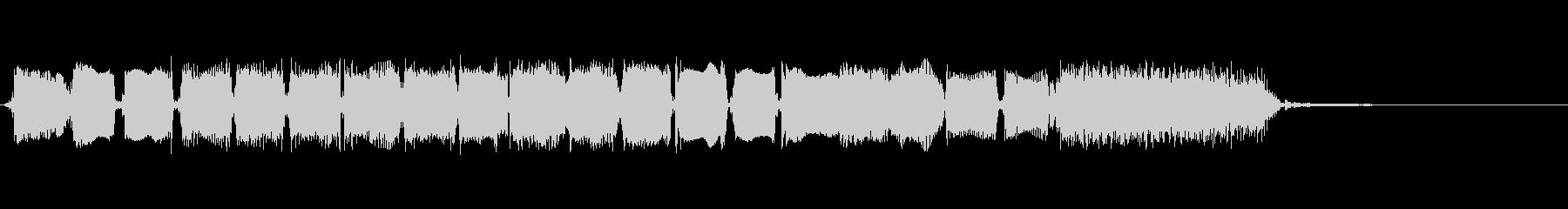 ロックンロールイントロ風ギターのジングルの未再生の波形