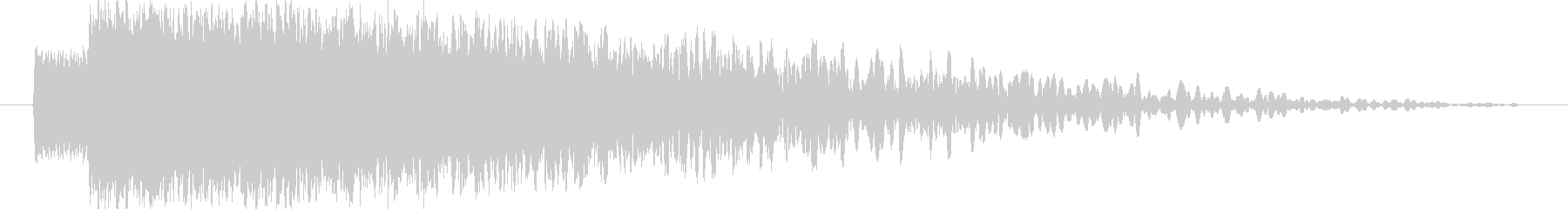 【雷魔法・落雷】ピシャォオンの未再生の波形