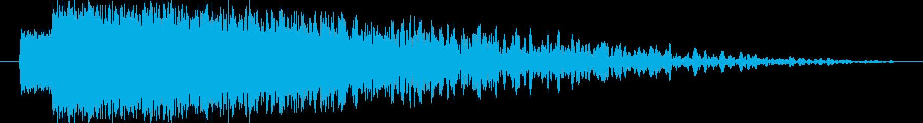 【雷魔法・落雷】ピシャォオンの再生済みの波形