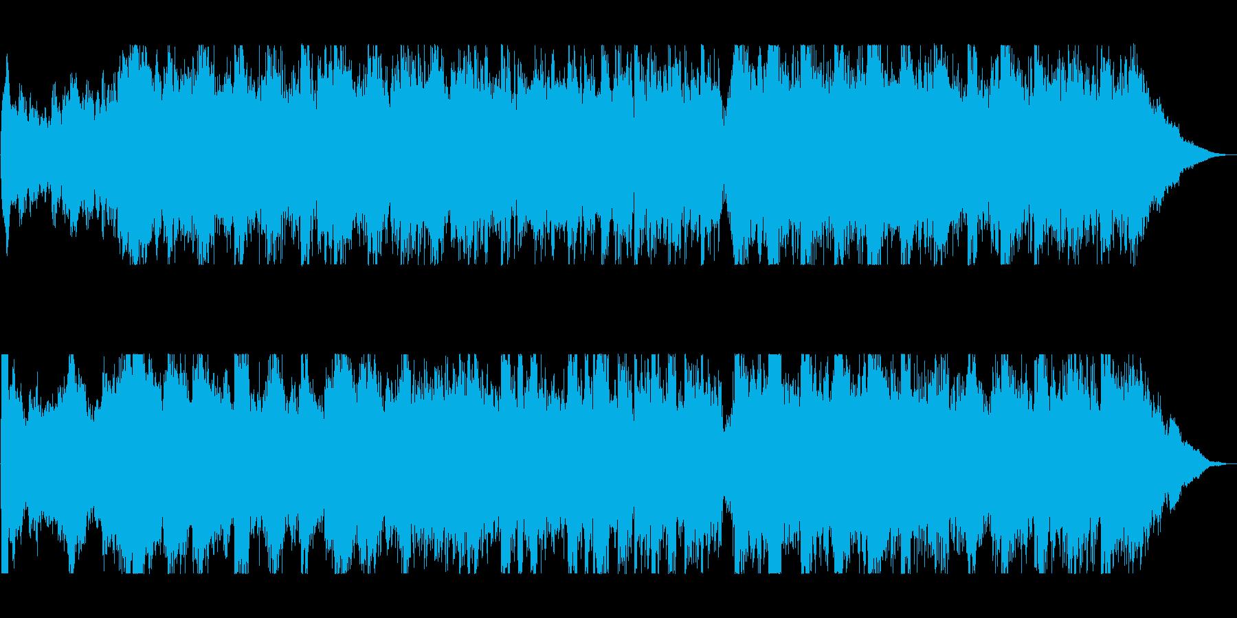 雄大で音階が上がっていくオーケストラの再生済みの波形