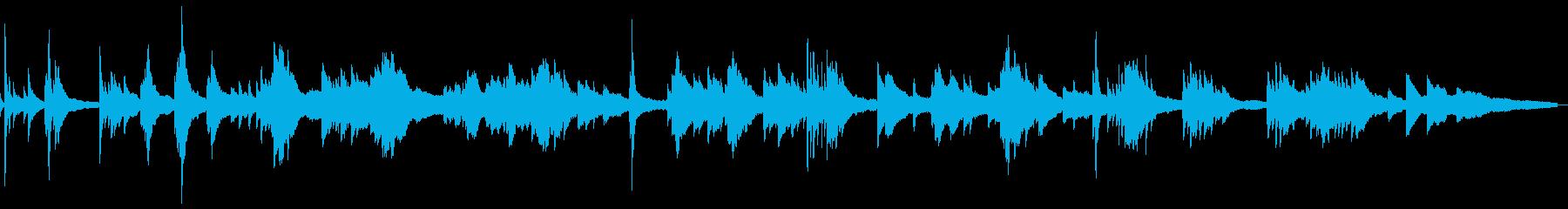 暗くしっとりとした雰囲気4-ピアノソロの再生済みの波形