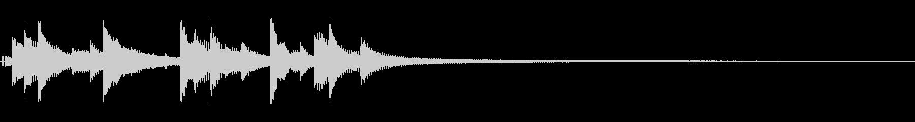 ベルの音。長め。の未再生の波形
