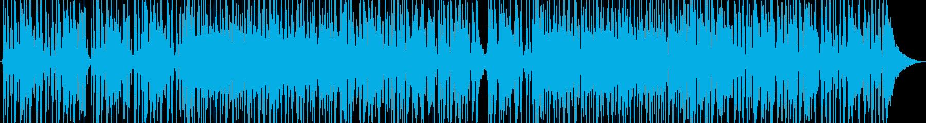 タイトで硬派なドラムメインのロックの再生済みの波形