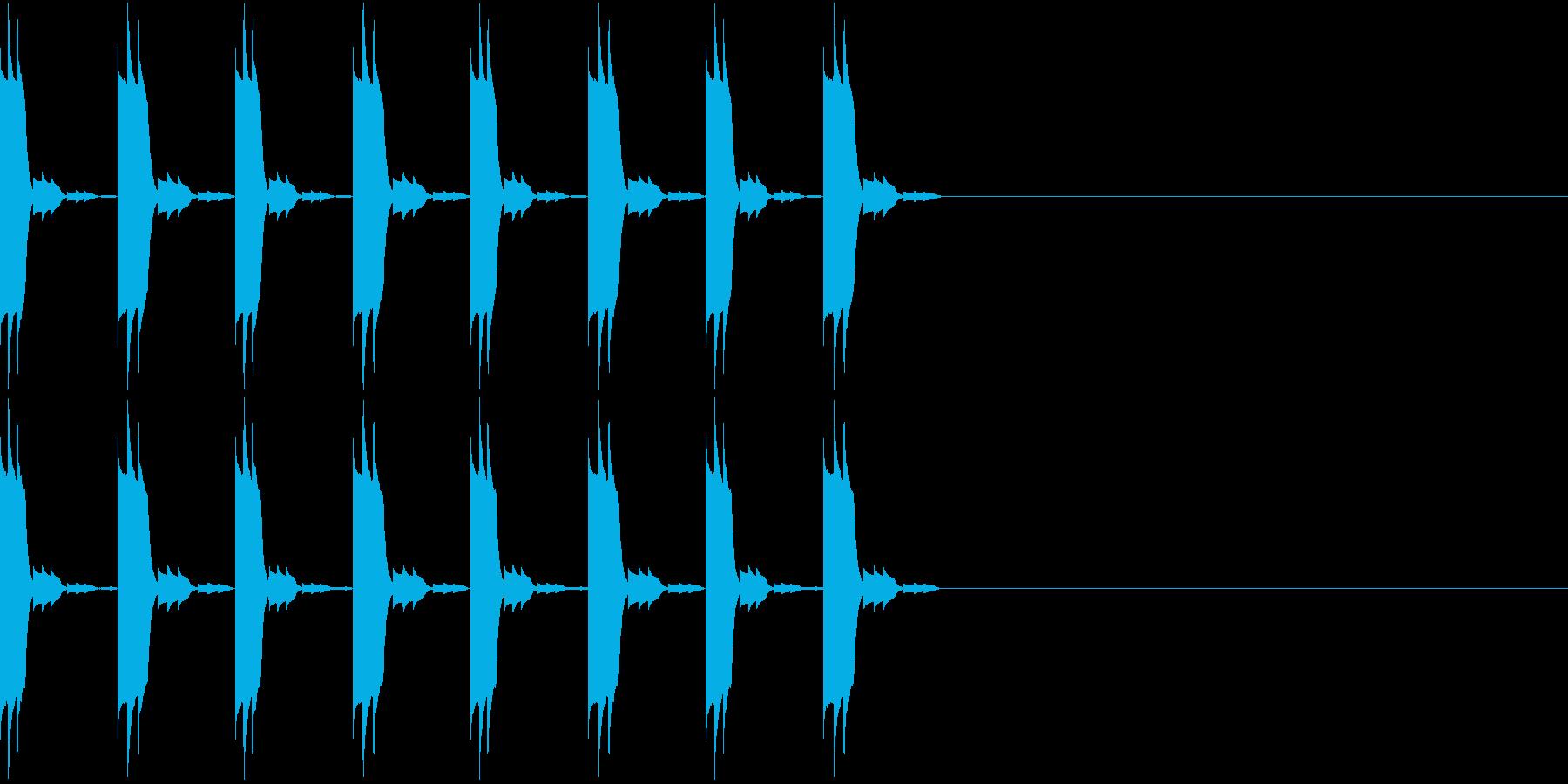 アラーム 時報 時計 着信音 ぴこぴこの再生済みの波形