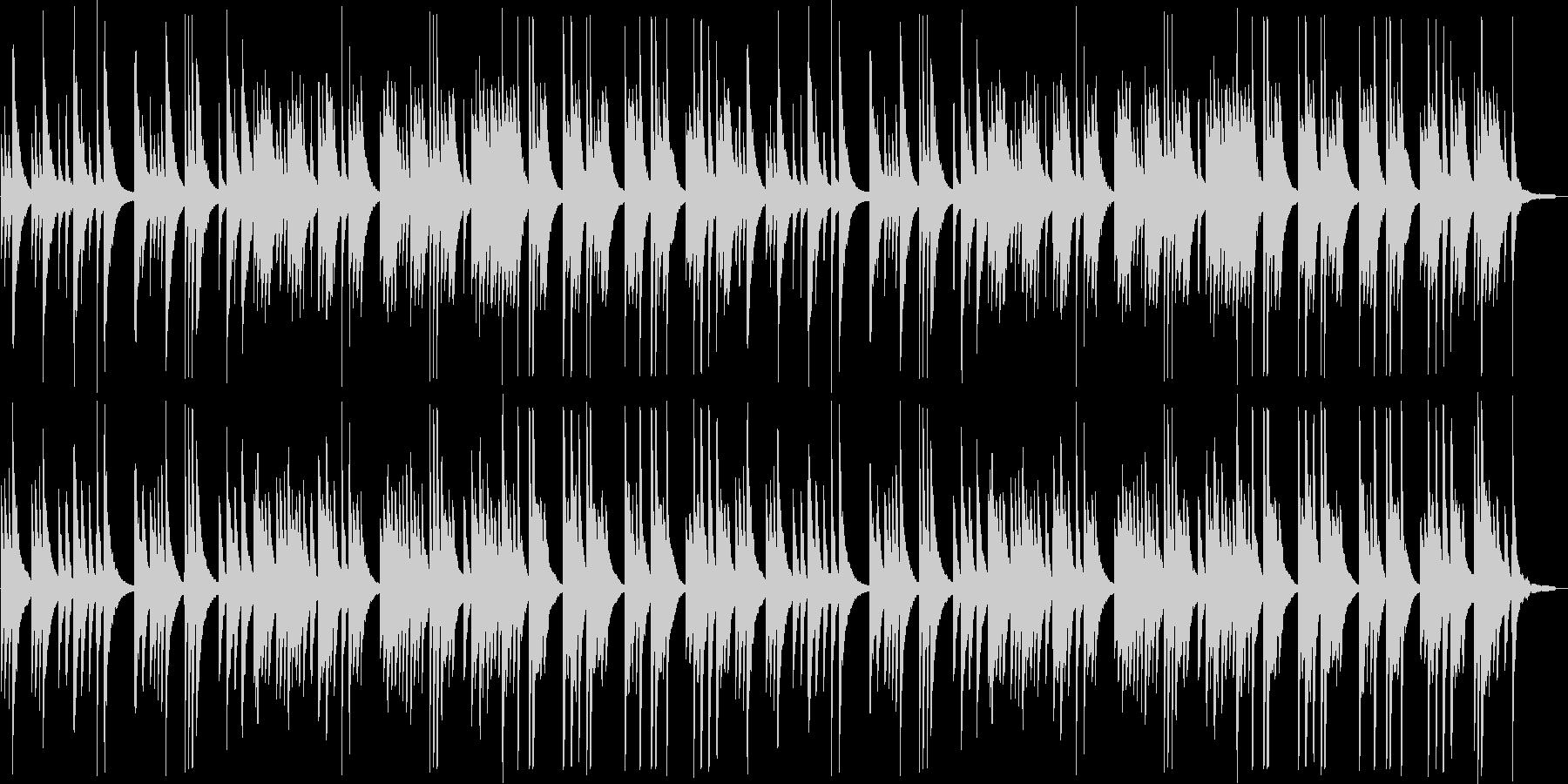 切ないピアノのラブバラードの未再生の波形