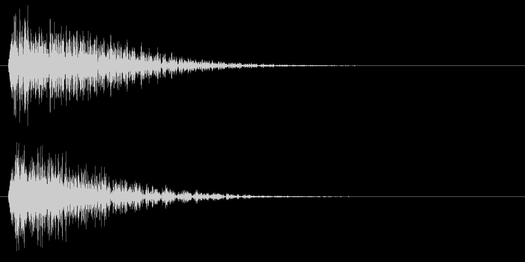 ビュパーッパー(機械的衝撃波)の未再生の波形