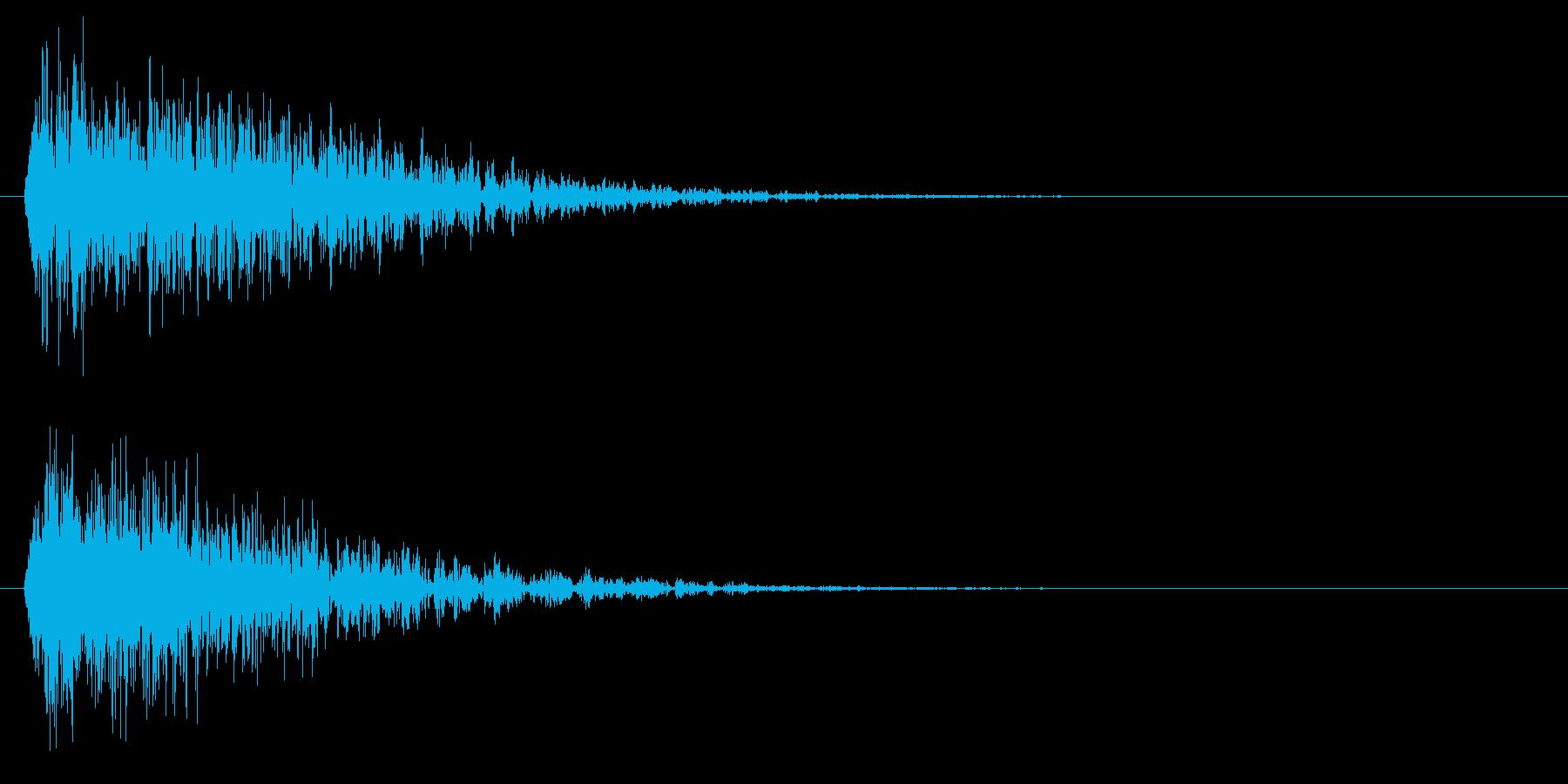 ビュパーッパー(機械的衝撃波)の再生済みの波形