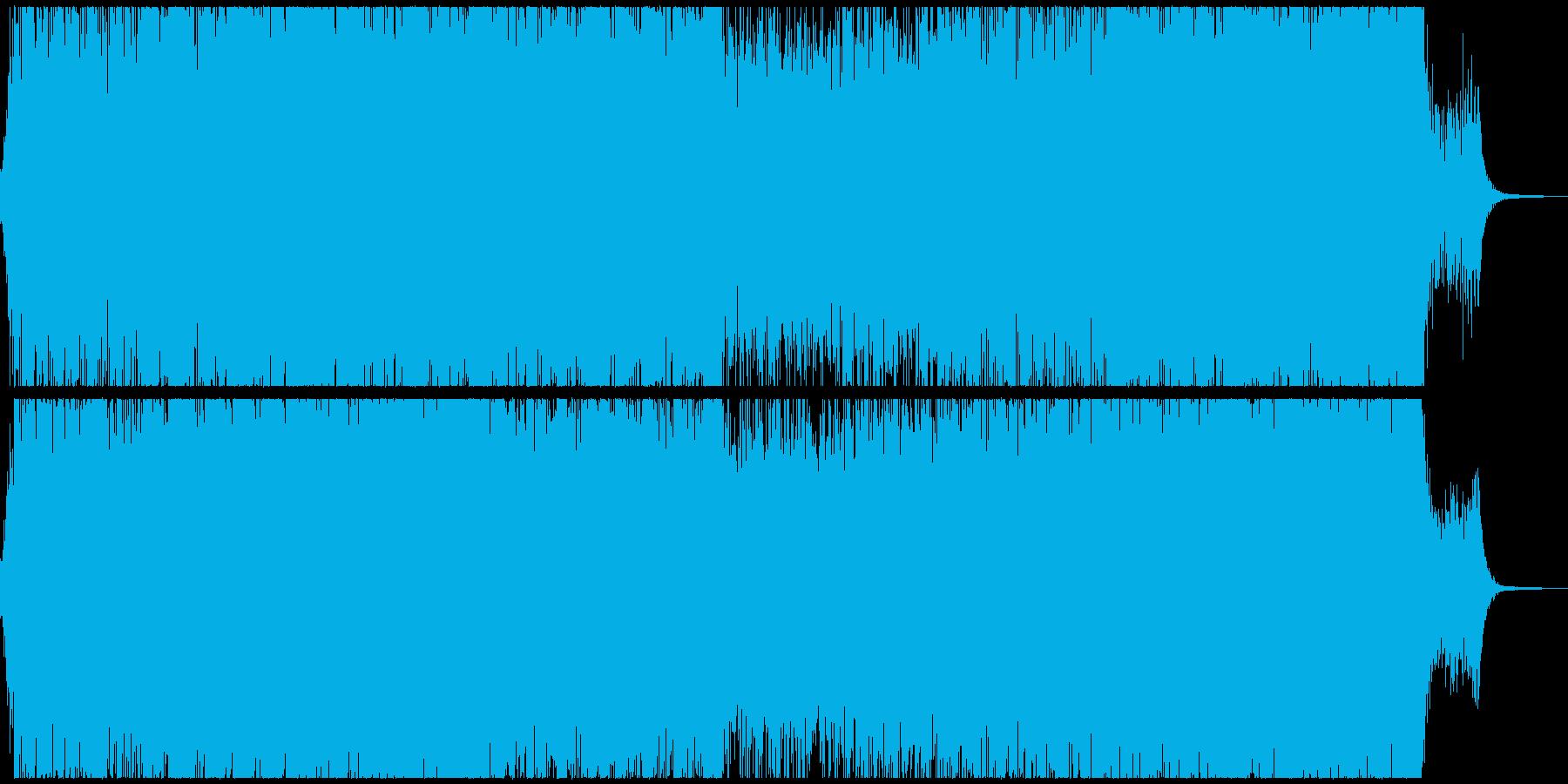 ダークなサスペンスシネマ風サウンドの再生済みの波形
