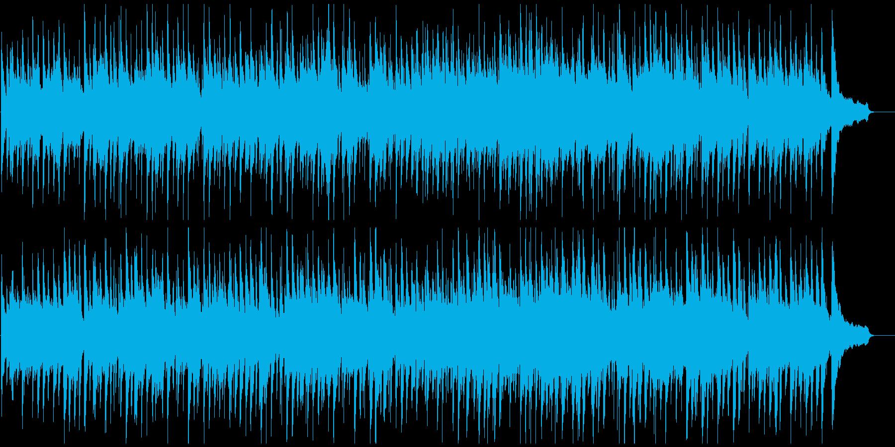 のほほんとした日常系のゆるいウクレレ曲の再生済みの波形