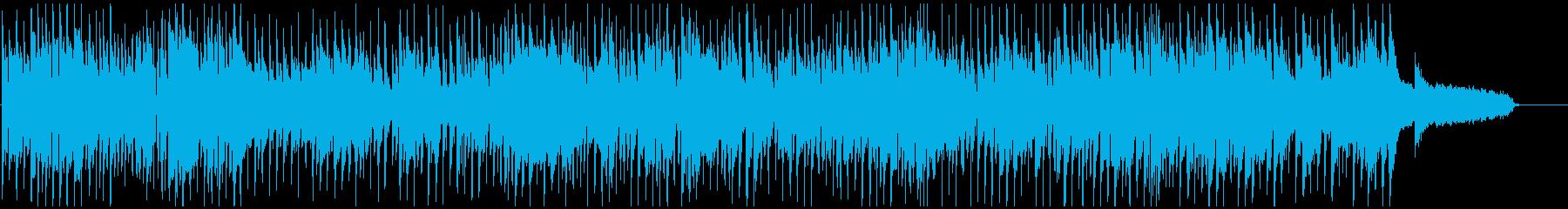 ノリノリなサックス生演奏のクラブジャズの再生済みの波形