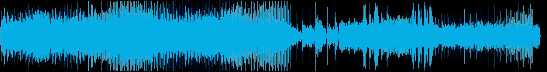 暗く切ないBGMの再生済みの波形