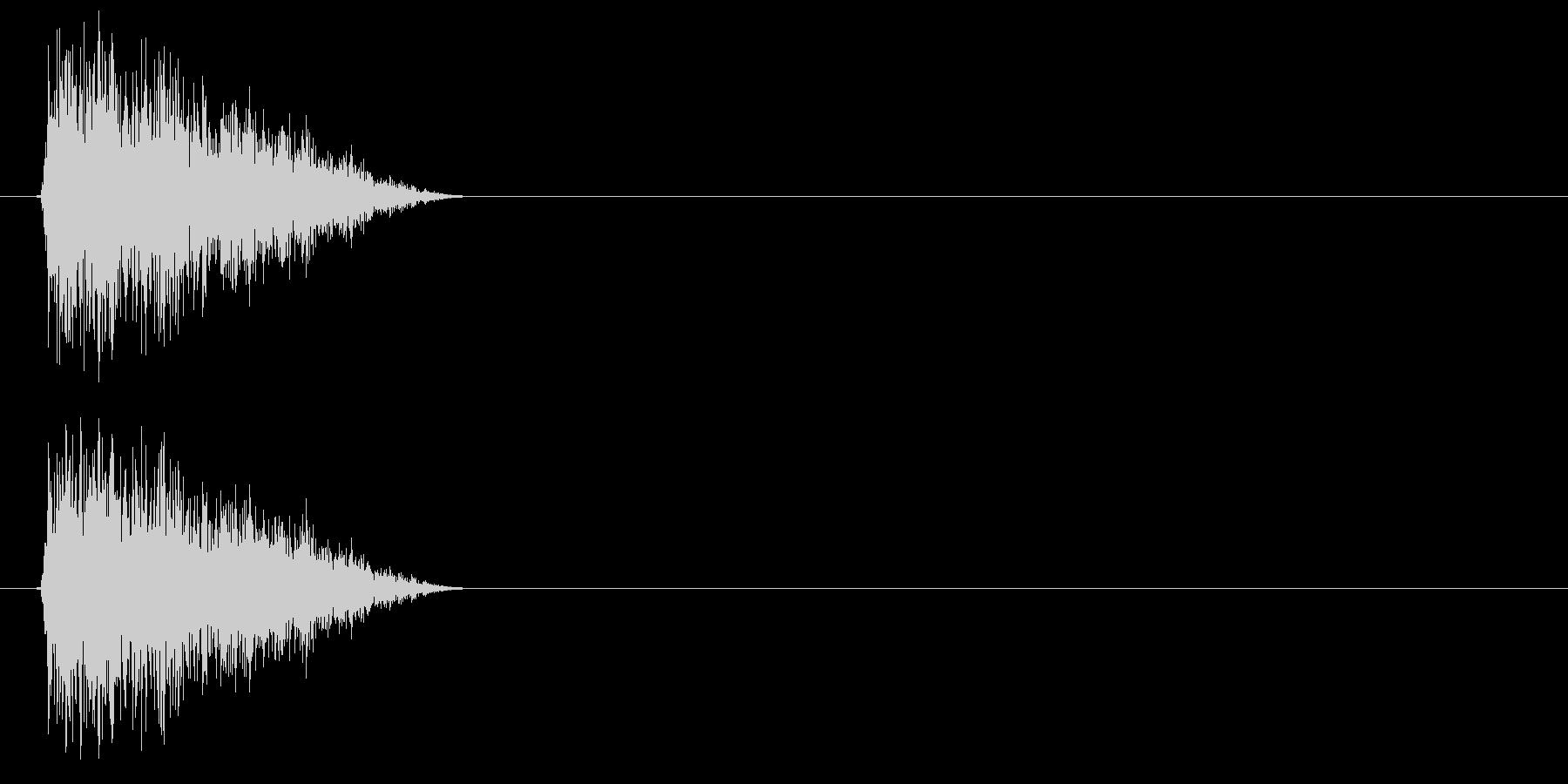 シュイッ(STG、カーソル、スワイプ等)の未再生の波形