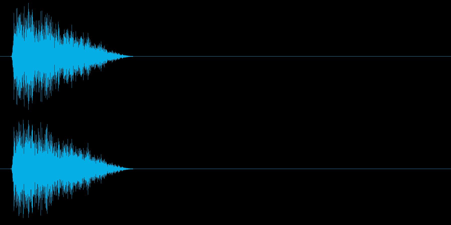 シュイッ(STG、カーソル、スワイプ等)の再生済みの波形