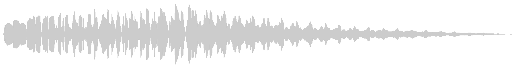 ファミコン風_ 魔法音2の未再生の波形