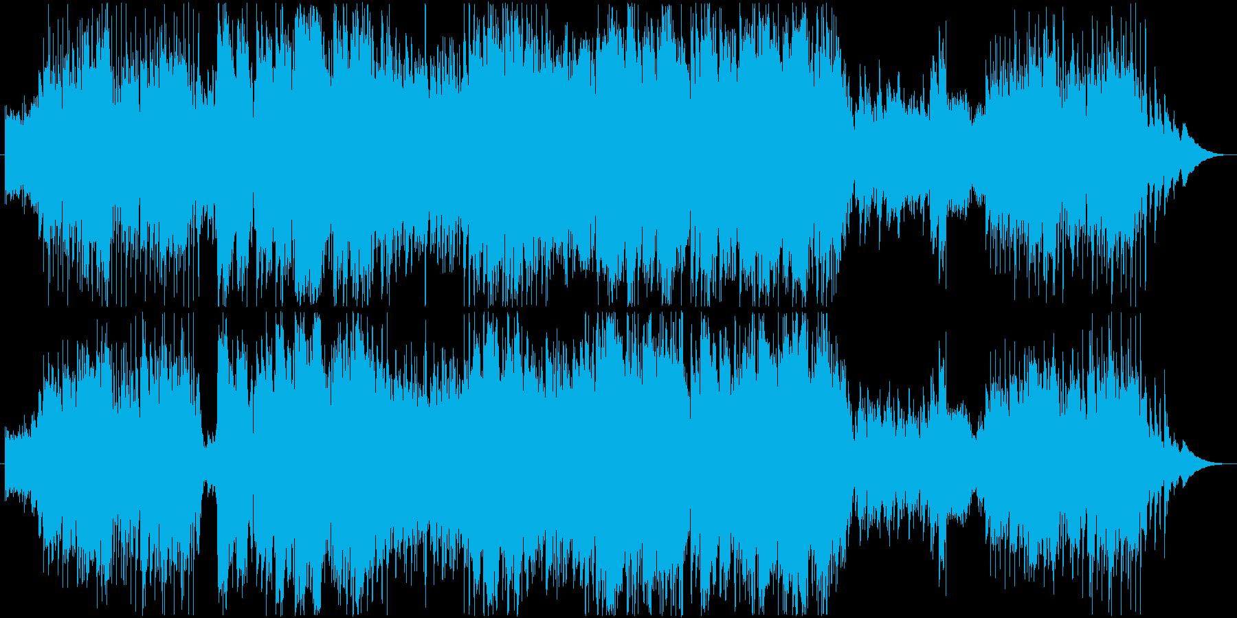 穏やかなケルト風BGMの再生済みの波形