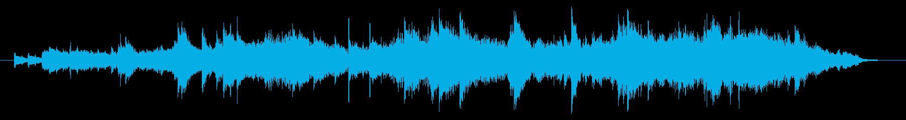 爽やかで神秘的なピアノ曲の再生済みの波形