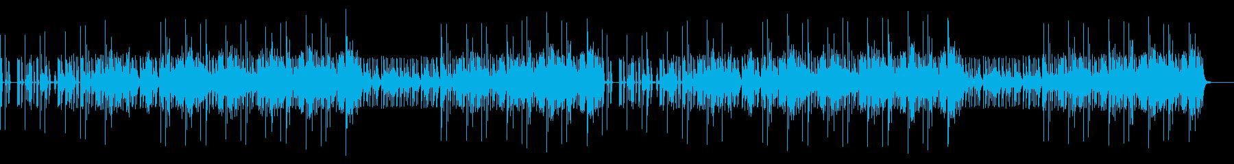 戦闘シーン音楽の再生済みの波形