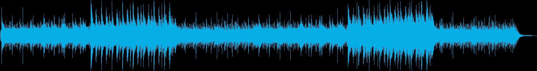 ゆったりしたVLOG向けBGMの再生済みの波形