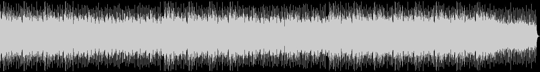エンディングに 疾走感のあるロックの未再生の波形