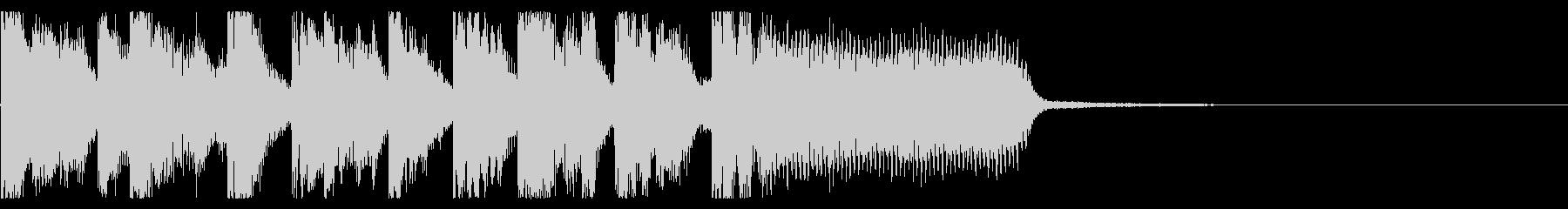 ポップなEDM系ジングルミュージック7の未再生の波形