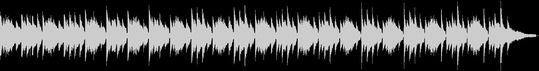サスペンス風のソロピアノの未再生の波形