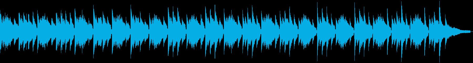 サスペンス風のソロピアノの再生済みの波形
