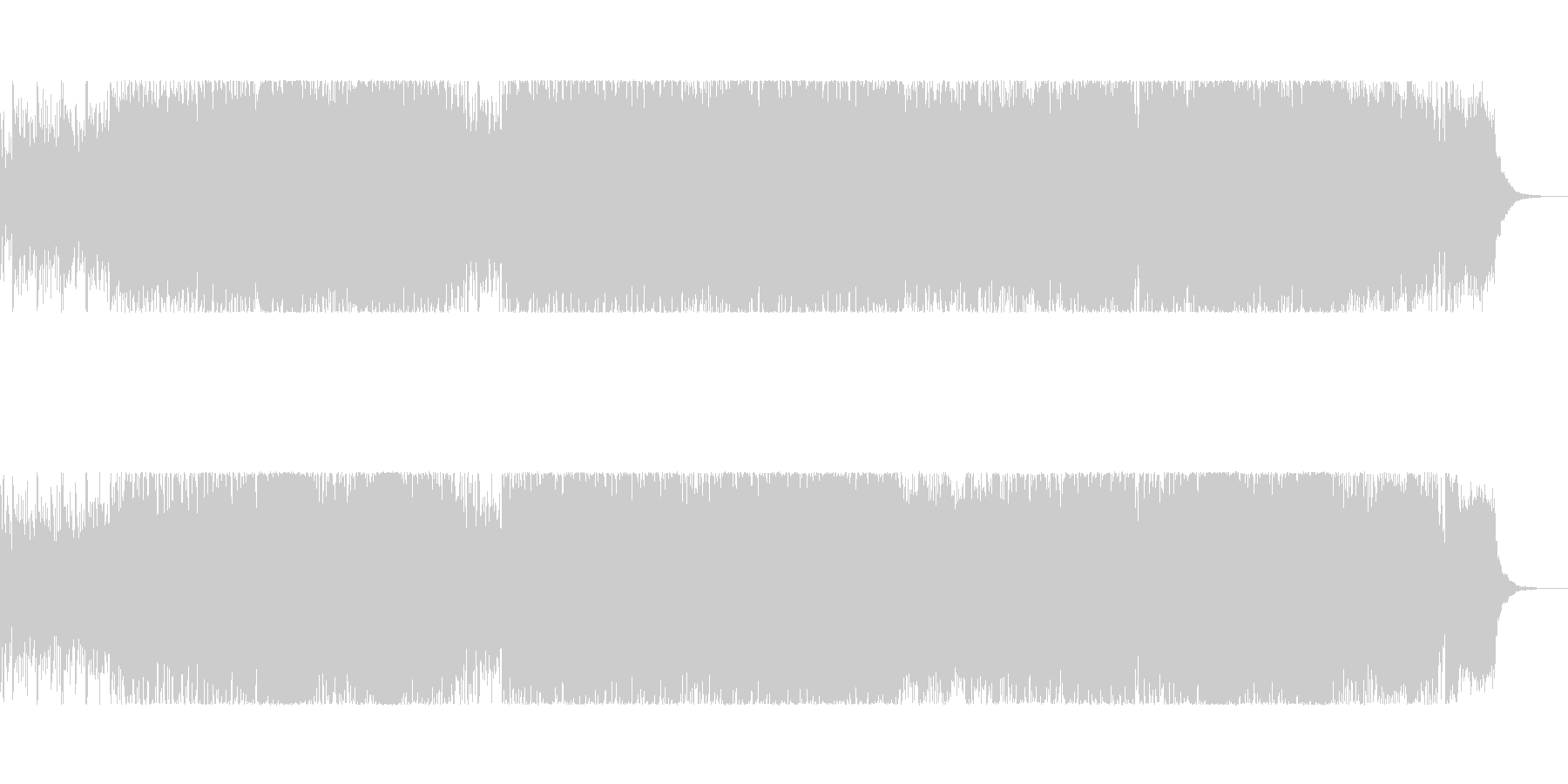 bpm136の力強く速いメロディのロックの未再生の波形