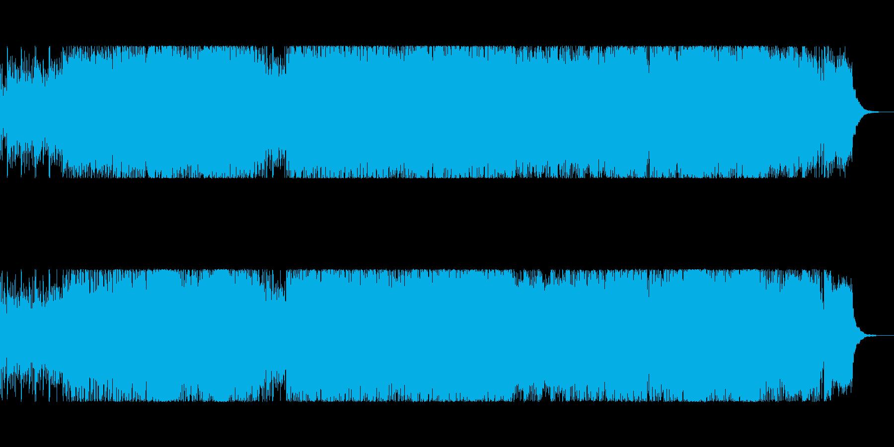 bpm136の力強く速いメロディのロックの再生済みの波形
