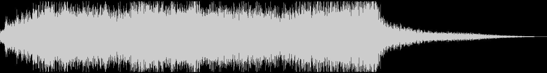 派手で煌びやかなキレのあるファンファーレの未再生の波形
