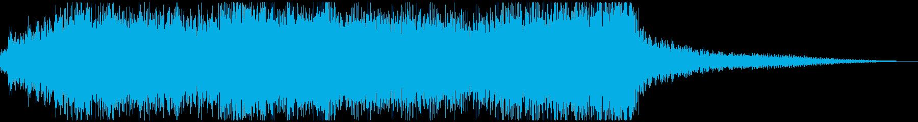 派手で煌びやかなキレのあるファンファーレの再生済みの波形