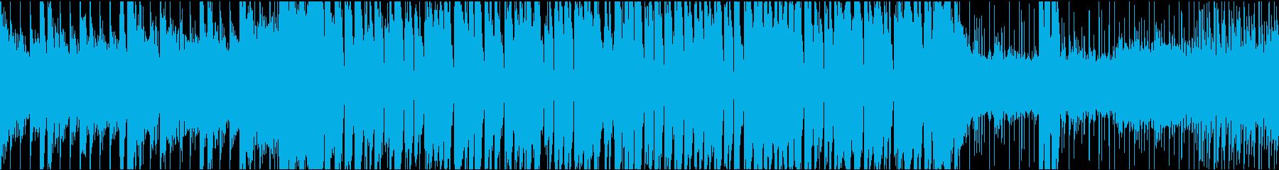 カタカナ日本語のかわいいテクノポップの再生済みの波形
