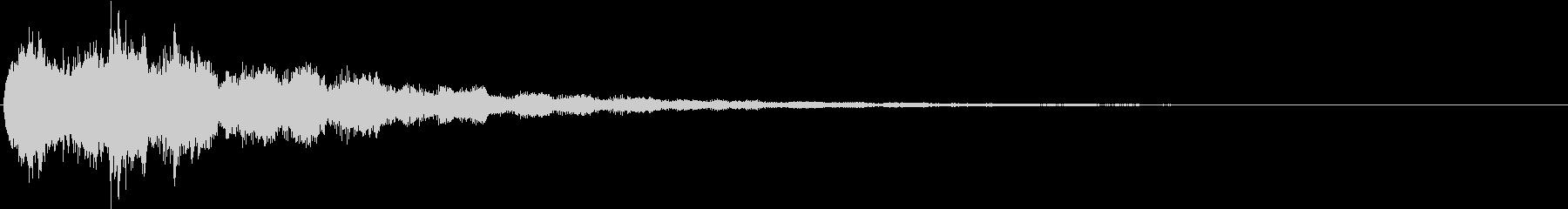 魔法テロップ23_キラキラファンタジー音の未再生の波形