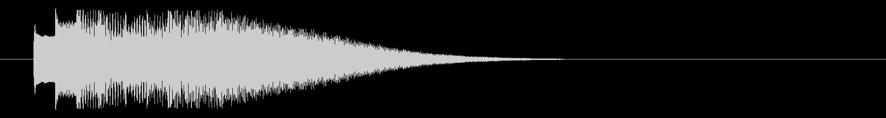 オルゴール調のきれいなロゴの未再生の波形