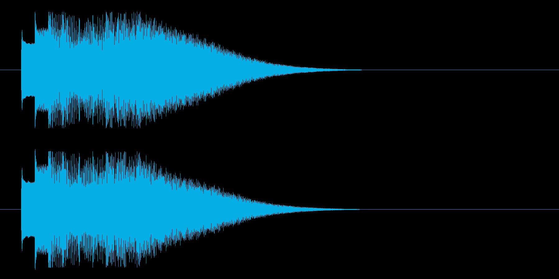 オルゴール調のきれいなロゴの再生済みの波形