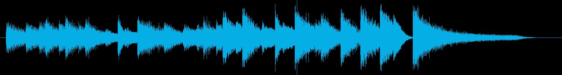 お正月・春の海モチーフのピアノジングルBの再生済みの波形