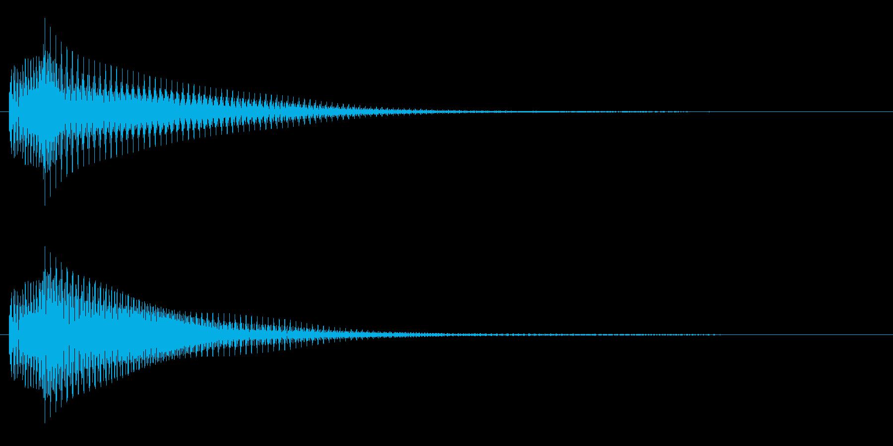 シンセサイザーの通知音 ピコンの再生済みの波形