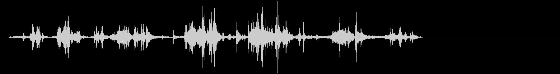 引きずる音 2の未再生の波形
