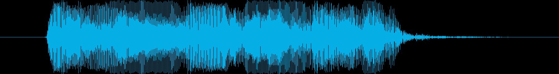 鳴き声 男性の恐ろしい悲鳴高01の再生済みの波形