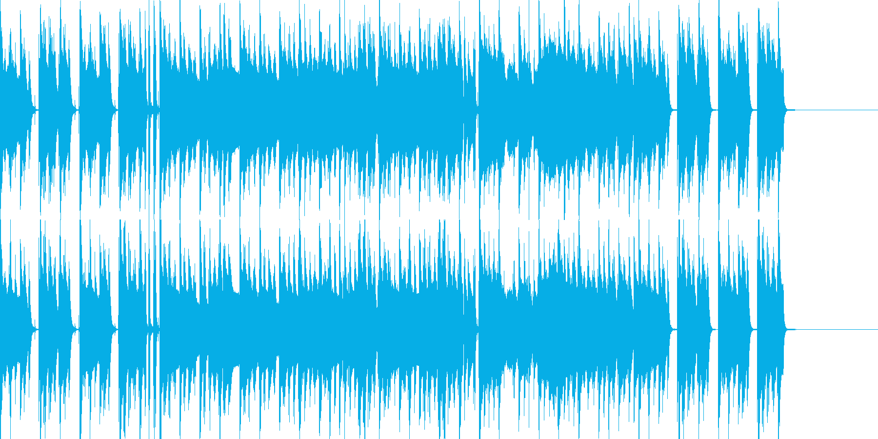 普段の日常で使われるBGMの再生済みの波形