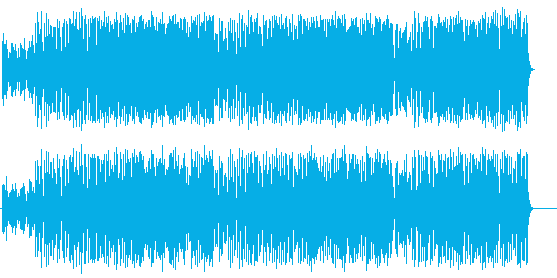 若者の力強いファンク/ロックの再生済みの波形