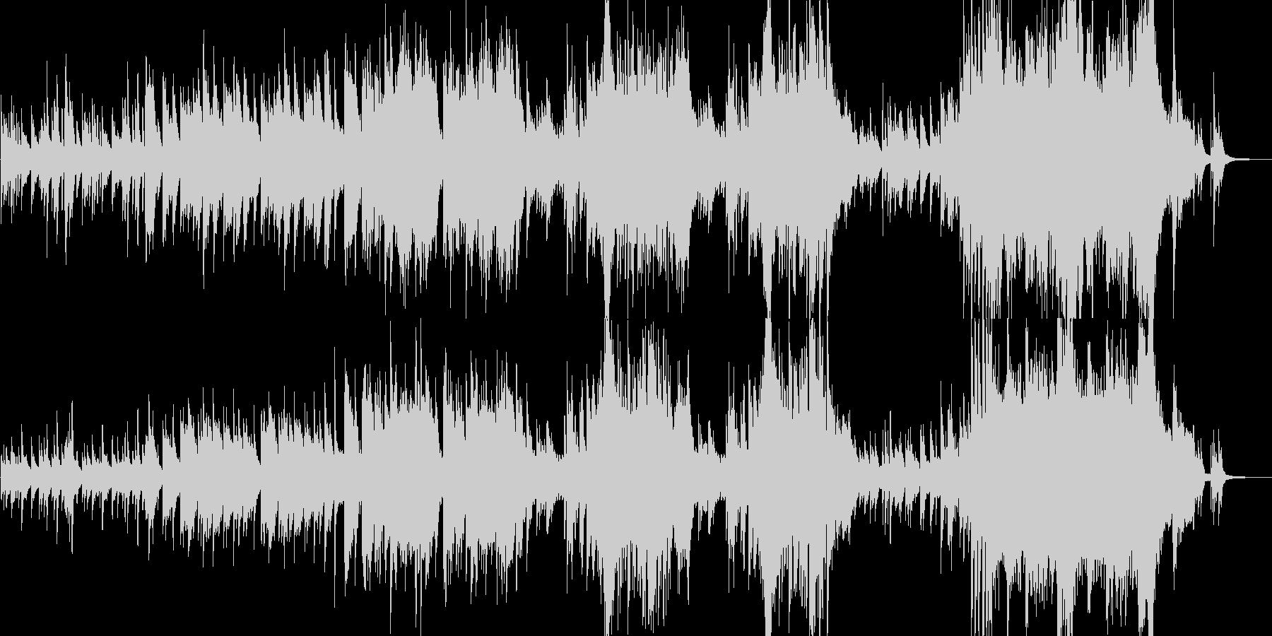切ないピアノとストリングスの楽曲です。の未再生の波形