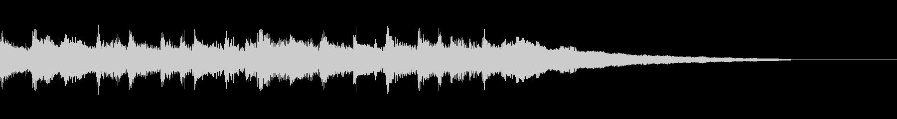 ほのぼのとしたウクレレとピアノのジングルの未再生の波形