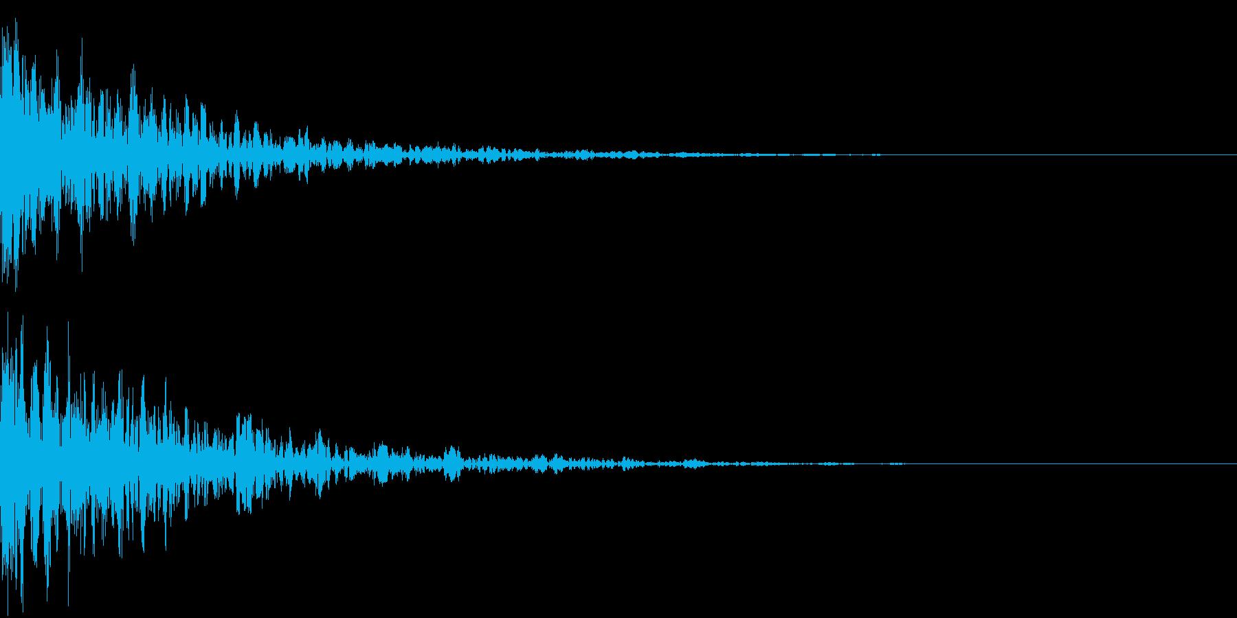 ドーン-31-2(インパクト音)の再生済みの波形
